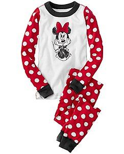 Disney Minnie Mouse Long John Pajamas In Organic Cotton by Hanna Andersson c7810c247