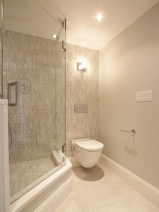 Corner stand-up shower for small bathroom. How big is this? Would I ...