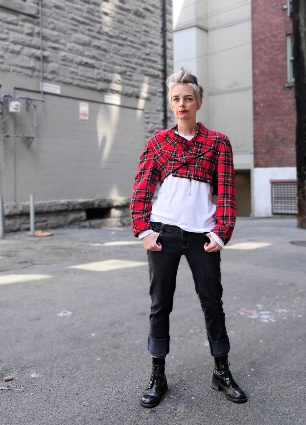 Melanie Kobayashi feeling punk in tartan | fashion in 2019