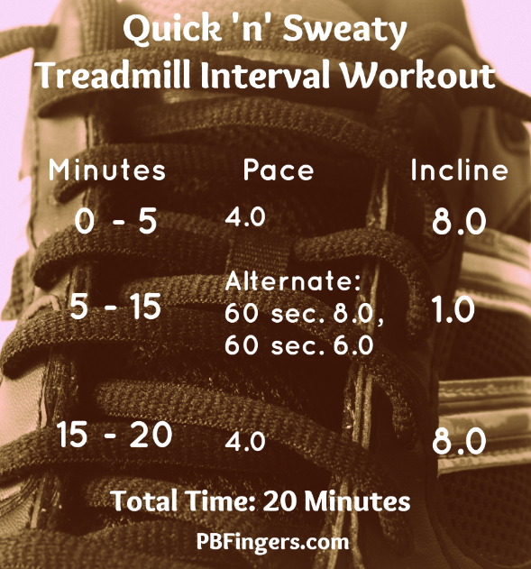 Quick 'n' Sweaty 20 Minute Interval Treadmill Workout