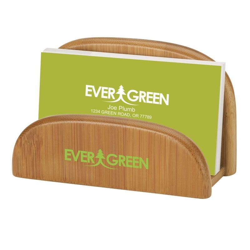 Promotional Essentials Garde Bamboo Business Card Holder ...