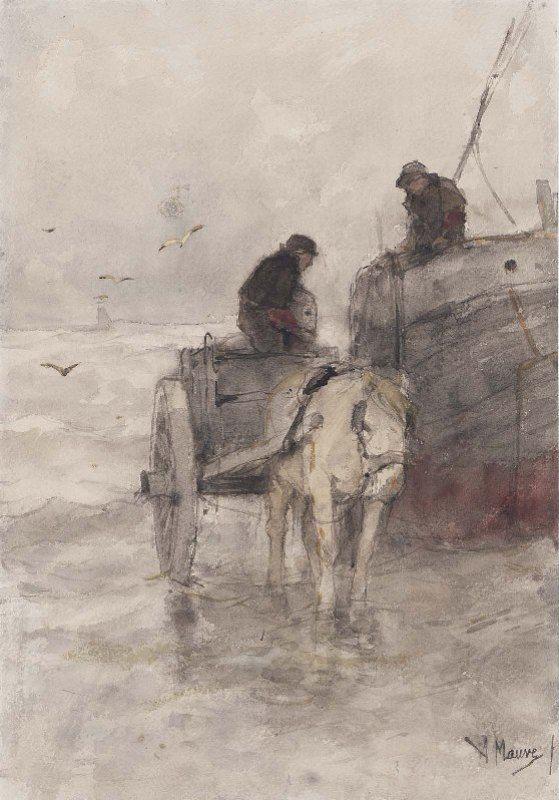 Anton Mauve - Op het strand