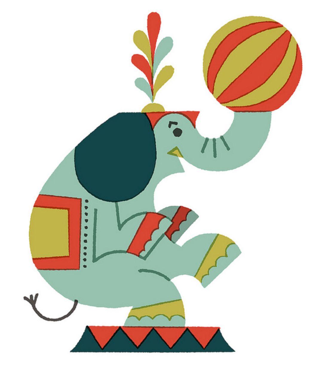 Circus Elephant By Satake Shunsuke | ILLUSTRATION | Pinterest