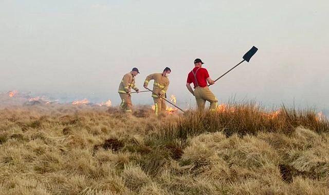 Grass Fire, Belthorn, Blackburn.