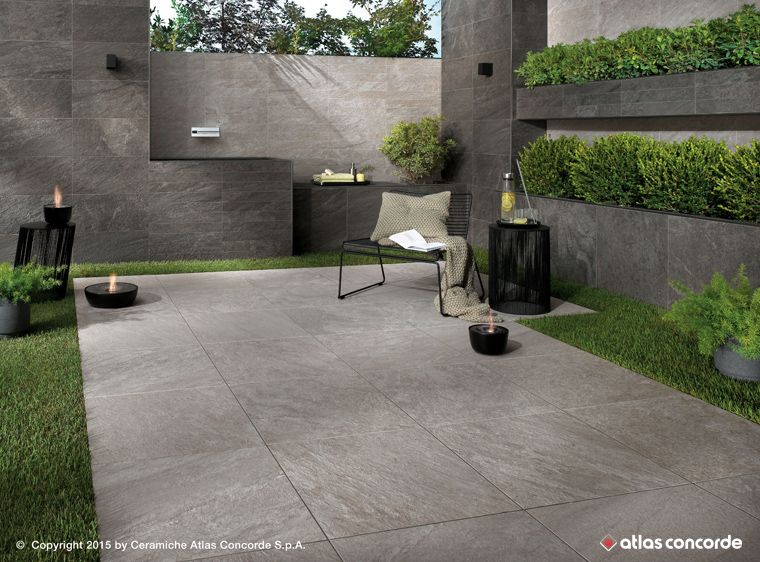 Gres porcellanato effetto pietra per gli spazi outdoor brave di