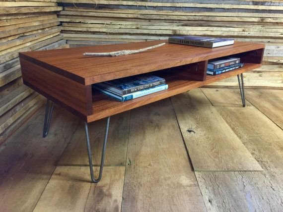 boxer mid century modern coffee table with storage, featuring