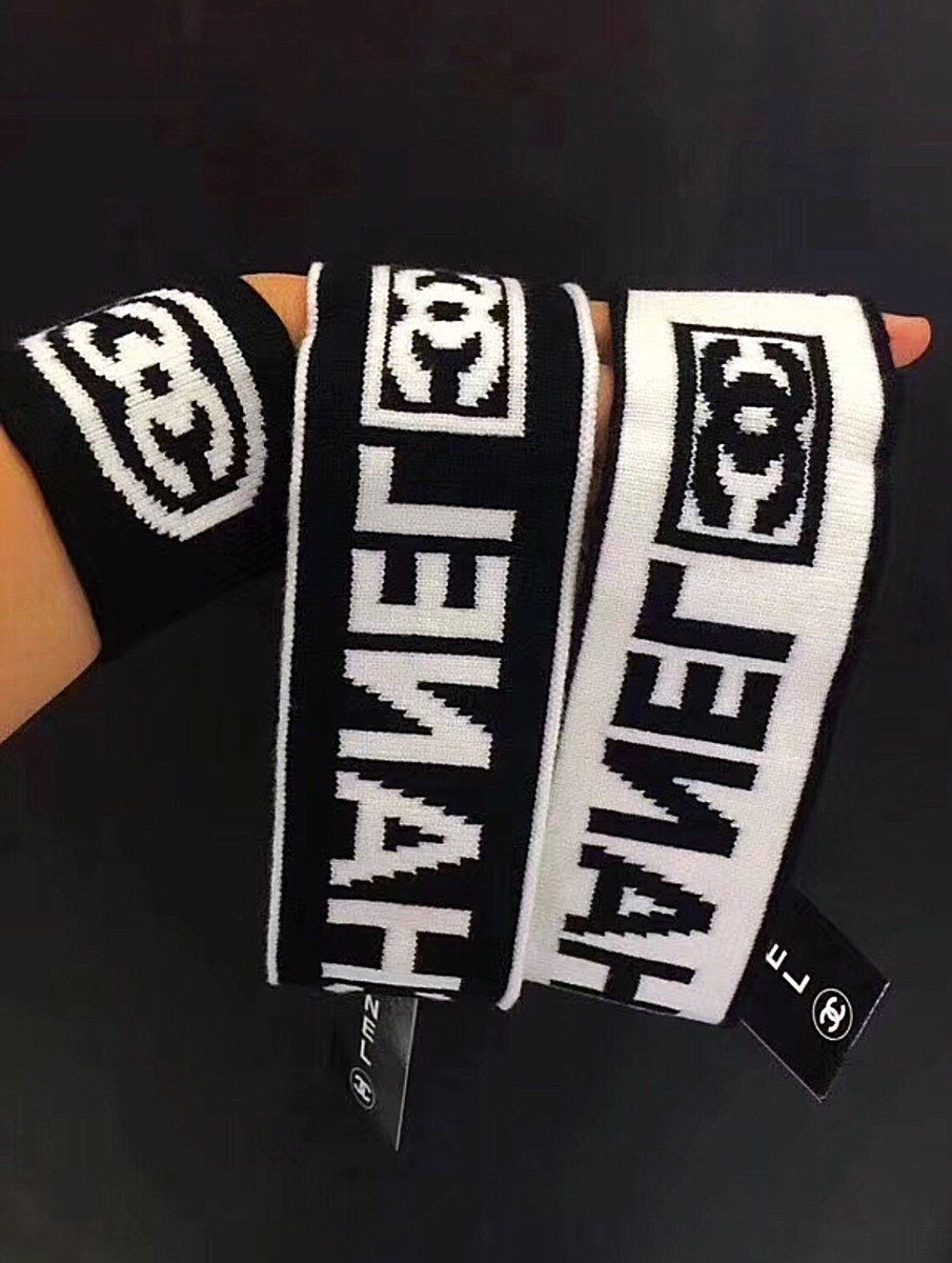 dd0cce45c0f Chanel Inspired Black White Logo Knit Headband – Celebrity Inspiracion