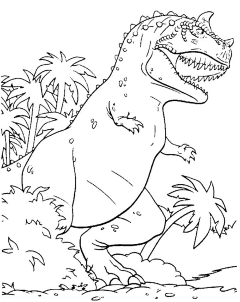 Dinosaur T-Rex Coloring Pages for Kids - Printable Kids Colouring ...