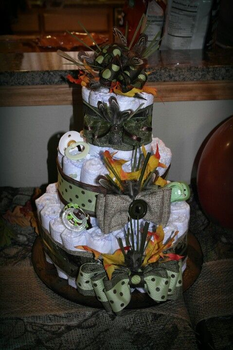 Camo Diaper Cake Diaper Cake Boy Baby Shower Camo Dipper Cakes