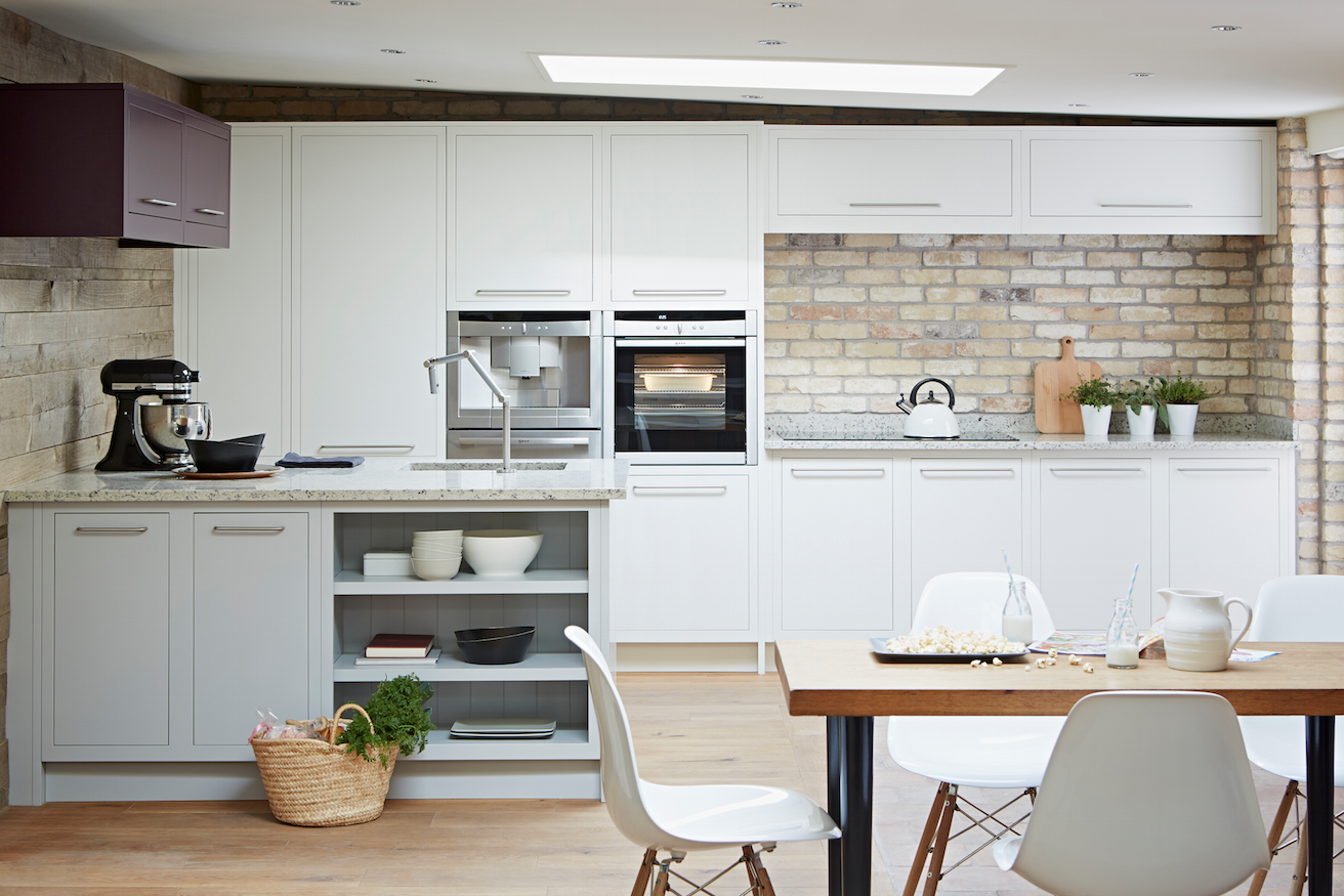 White Urban inframe kitchen from John Lewis of Hungerford https