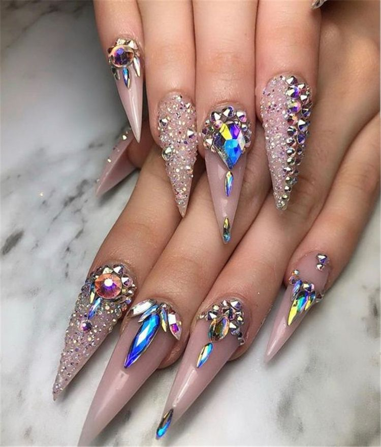 36 Gorgeous Trend Stiletto Nails In 2019 Stylish Nails