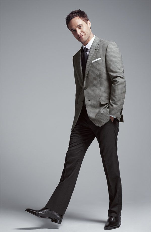 gray sport coat/black trousers/tie | Real men know how to dress ...
