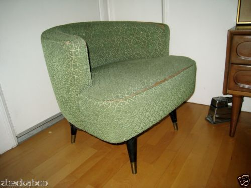 Terrific Mid Century Modern Chair Vintage Kroehler Barrel Swivel Ocoug Best Dining Table And Chair Ideas Images Ocougorg