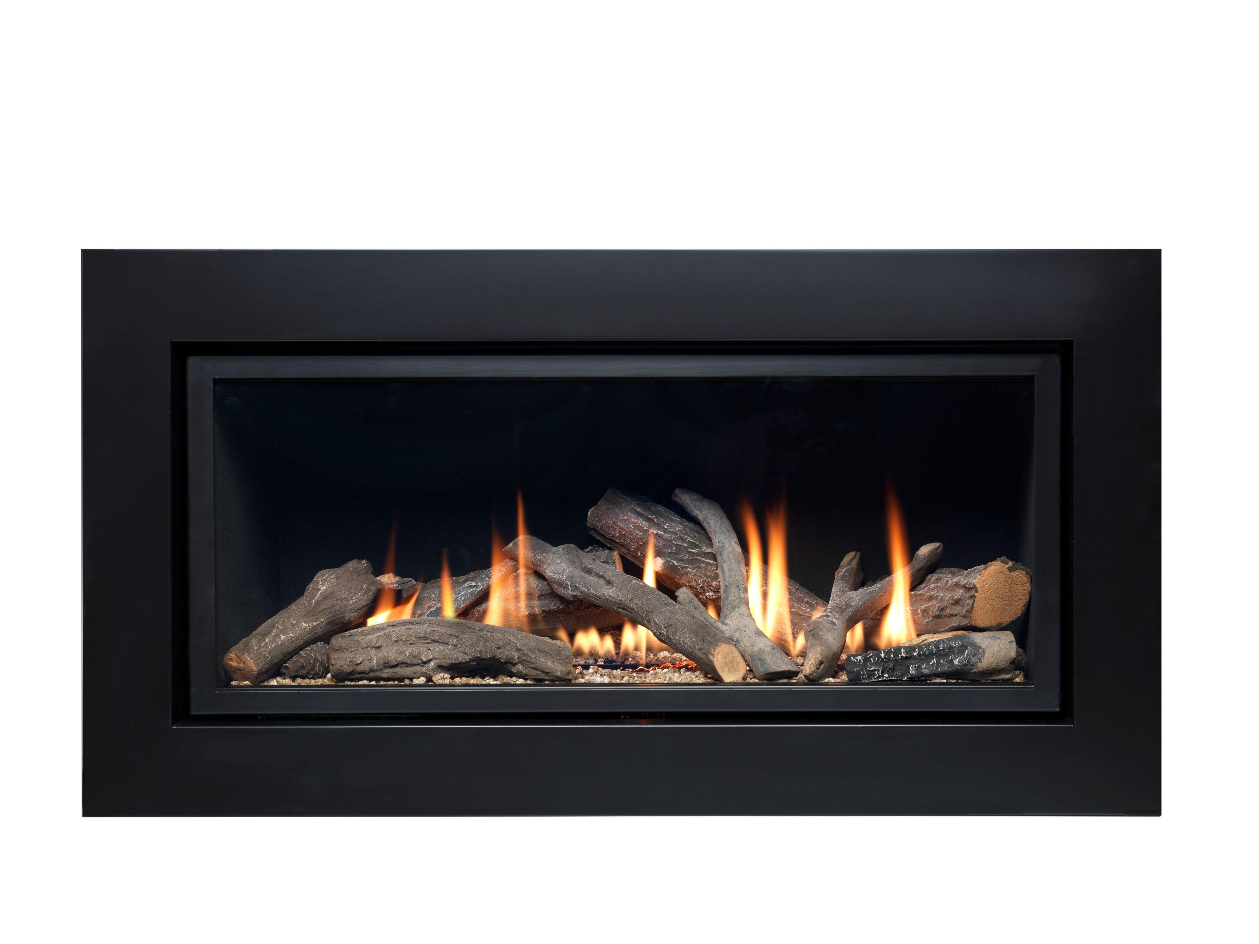 Ignite Pinnacle Black Remote Control Inset Gas Fire