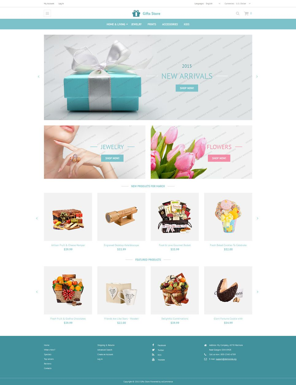 Gift Store #OsCommerce Free Theme #onlinestore #online shop ...