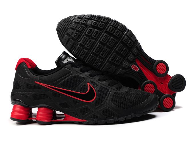 all red nike shox