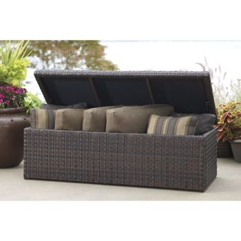 Fairview 50 Gallon Hand Woven Resin Wicker Storage Bench ( From Costco)