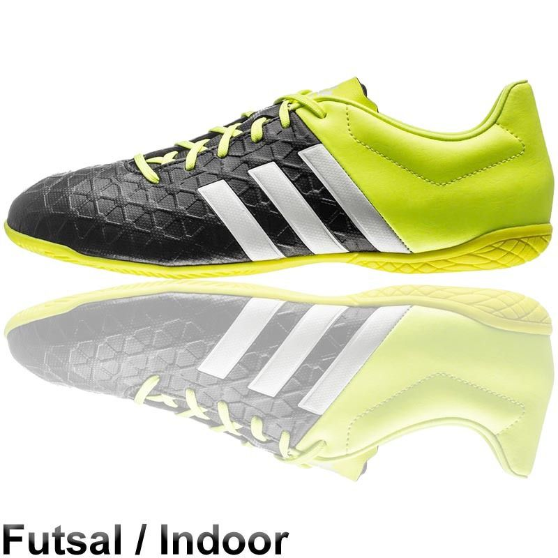 adidas Ace 15 4 Futsal Shoes IN  Black Solar Yellow