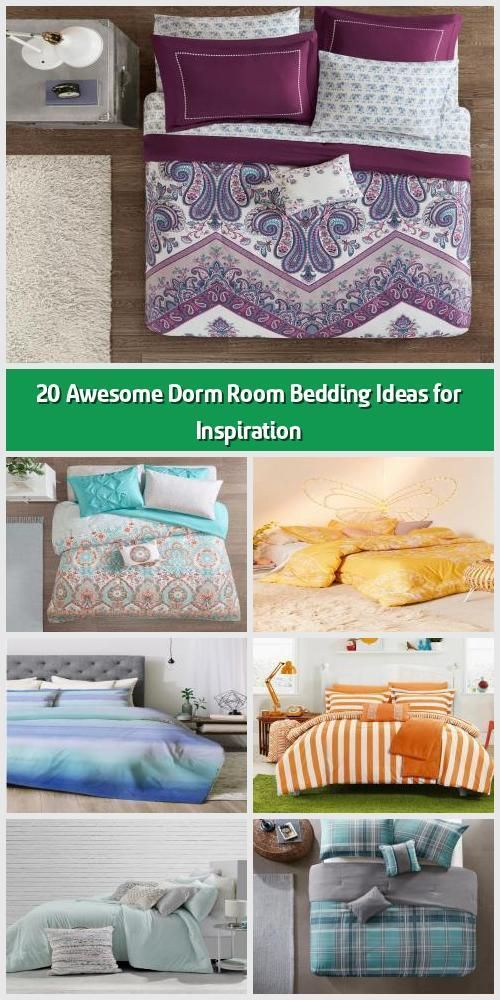 Photo of 20 Awesome Dorm Room Bedding Ideas for Inspiration –   Pastel dorm room bedding …