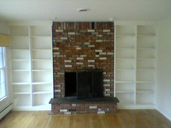 Fireplace With Bookshelves On Each Side Simply Click On