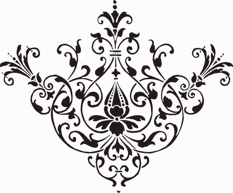 flourishes and swirls floral royalty free clipart image borders rh pinterest com  free damask pattern clip art