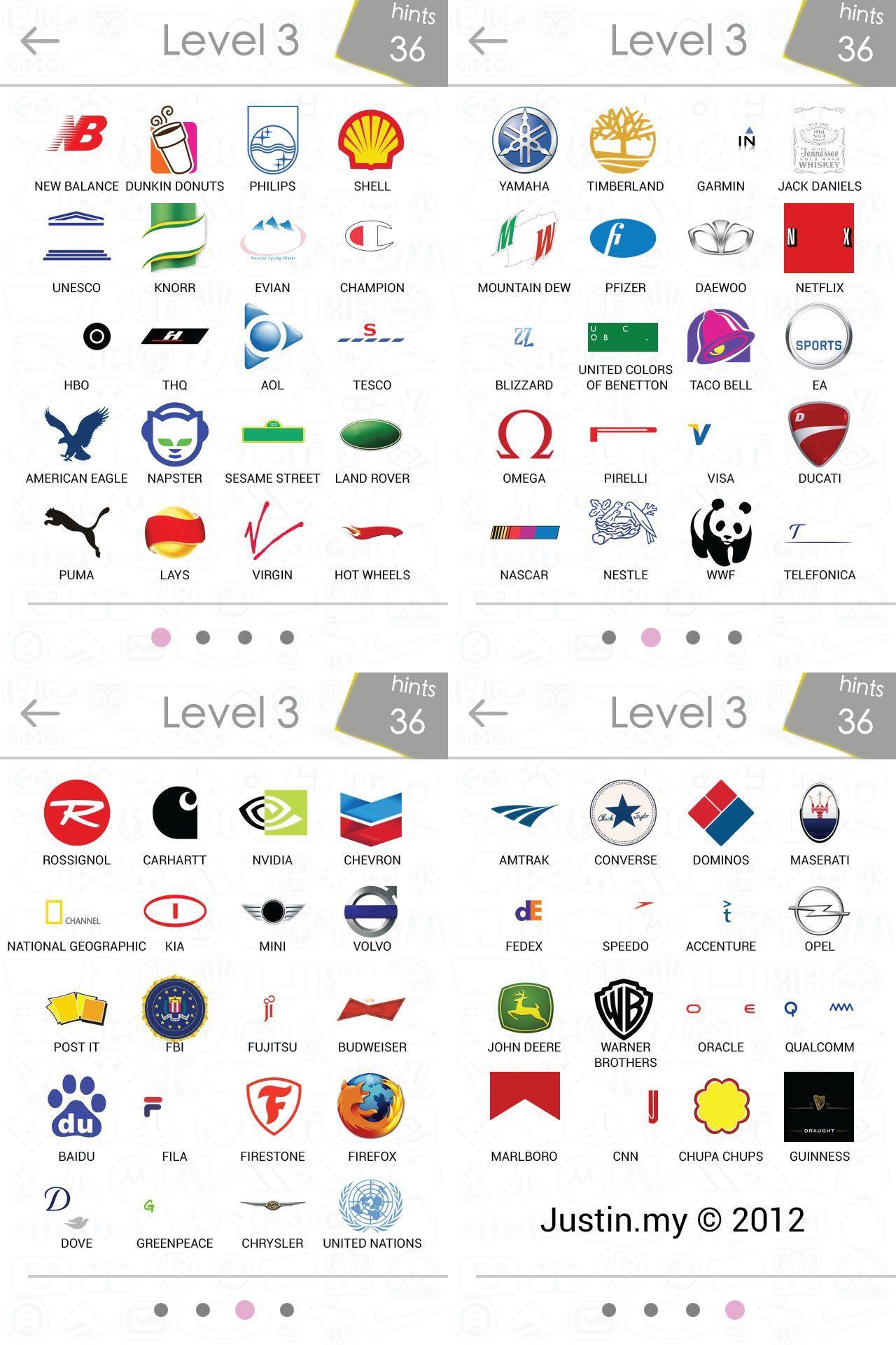Logos Quiz Answers Level 3