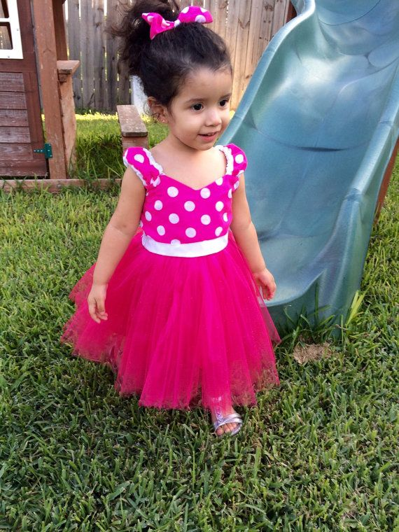 Minnie Mouse Dress Tutu Hot Pink Birthday Dress by TitasBoutique ...