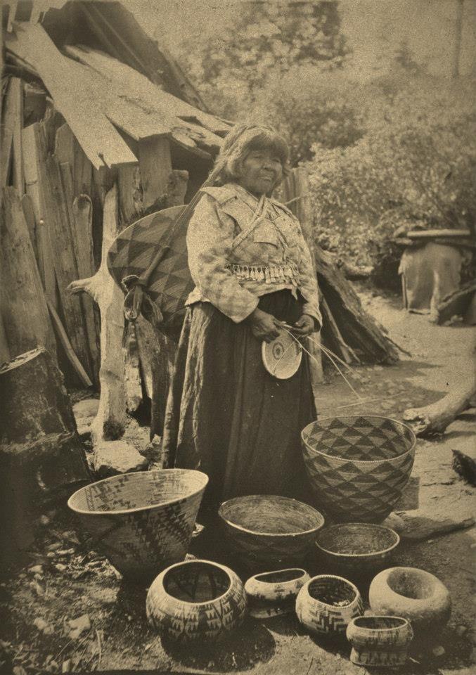 NISENAN BASKET MAKER , circa 1904 Native american