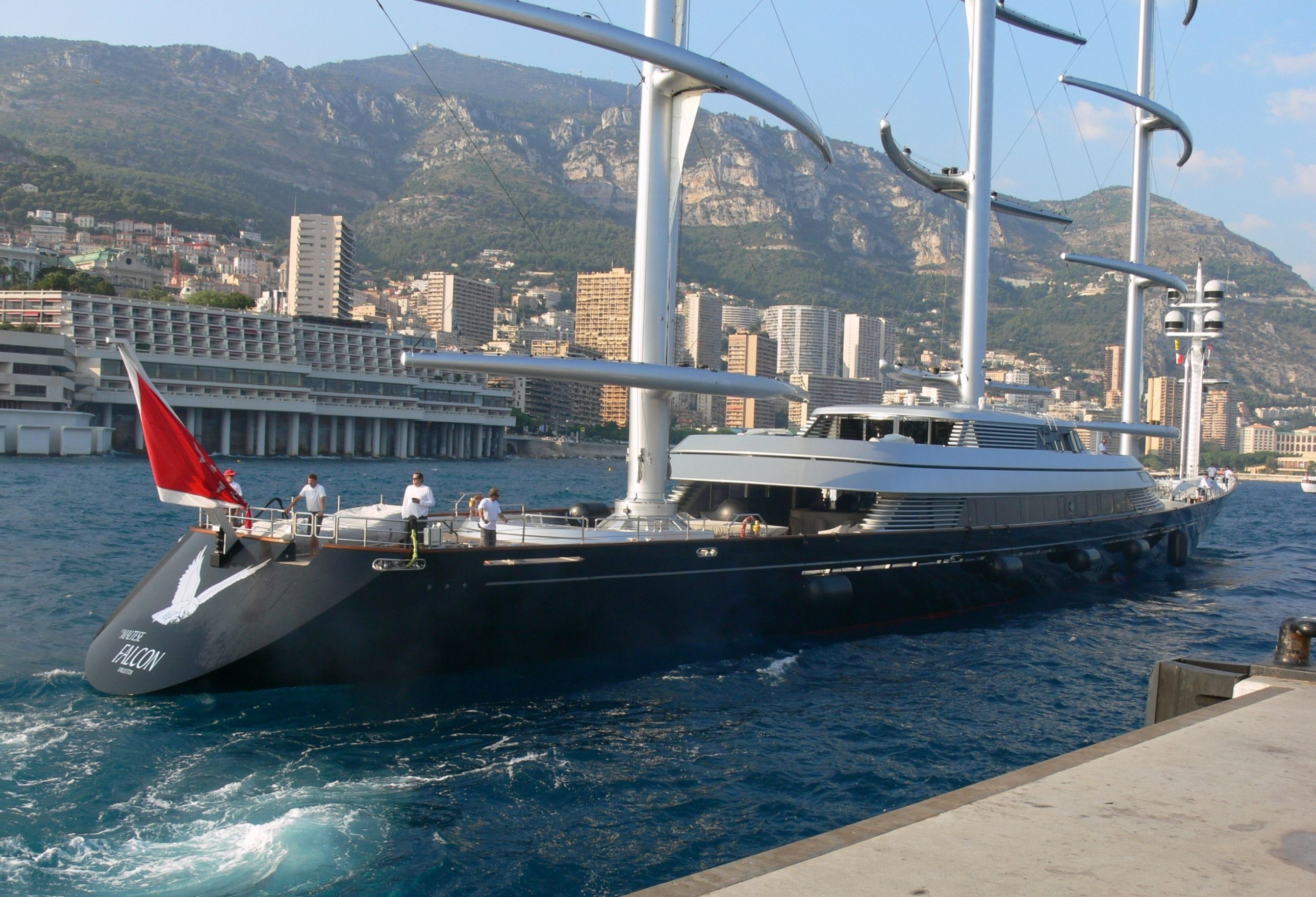 Maltese Falcon Yacht Yacht Maltese Falcon Seen Here Arriving In Monaco For The Yacht Show Yacht Sailboat Yacht Luxury Yachts