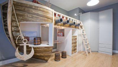 habitacin infantil con barco pirata decoracion infantil