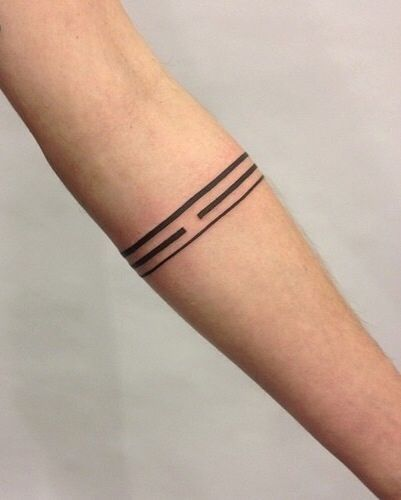 Lines Broken And Unbroken Band Tattoo Line Tattoos Arm Band Tattoo