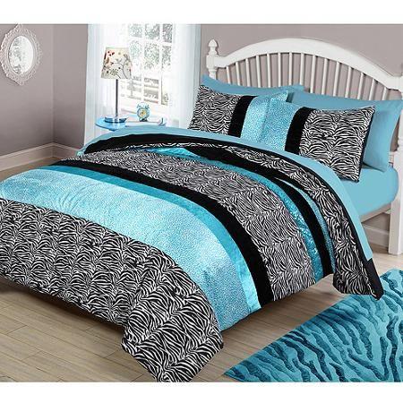 your zone teal animal bedding comforter set - Walmart.com | Belle ...