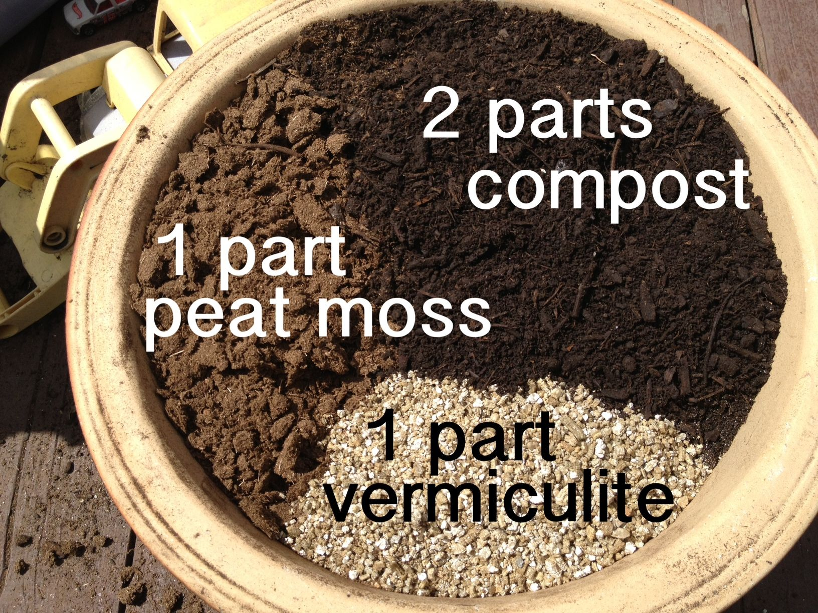 """Potting soil """"recipe"""" post peat moss and vermiculite"""