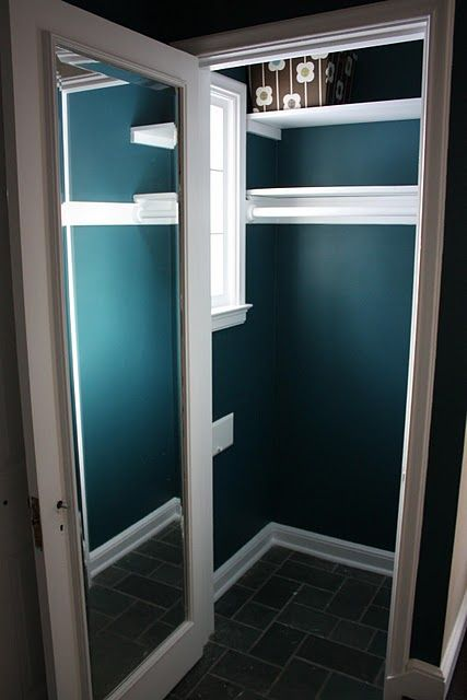 Paint The Coat Closet And Put A Mirror On The Inside Like