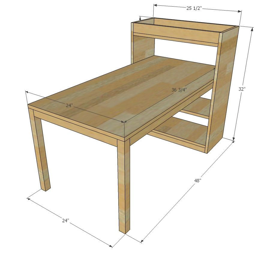 Ana white build a kids art center with some height for Make a craft table