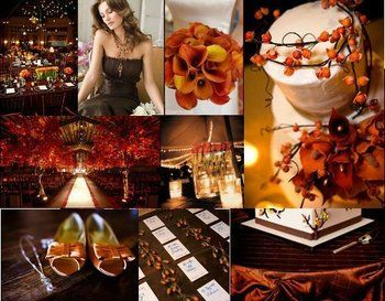 Burnt Orange Chocolate Brown Theme