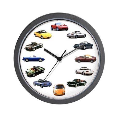 Miata Wall Clock By Rae Cafepress Clock Wall Clock Novelty Clocks