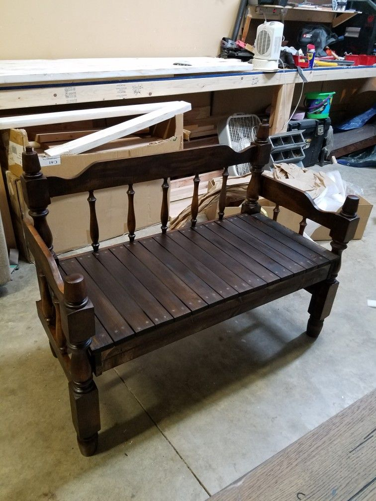 Antique Bed Stool: This Bunk Bed Bench Was Made From A 35 Year Old Antique