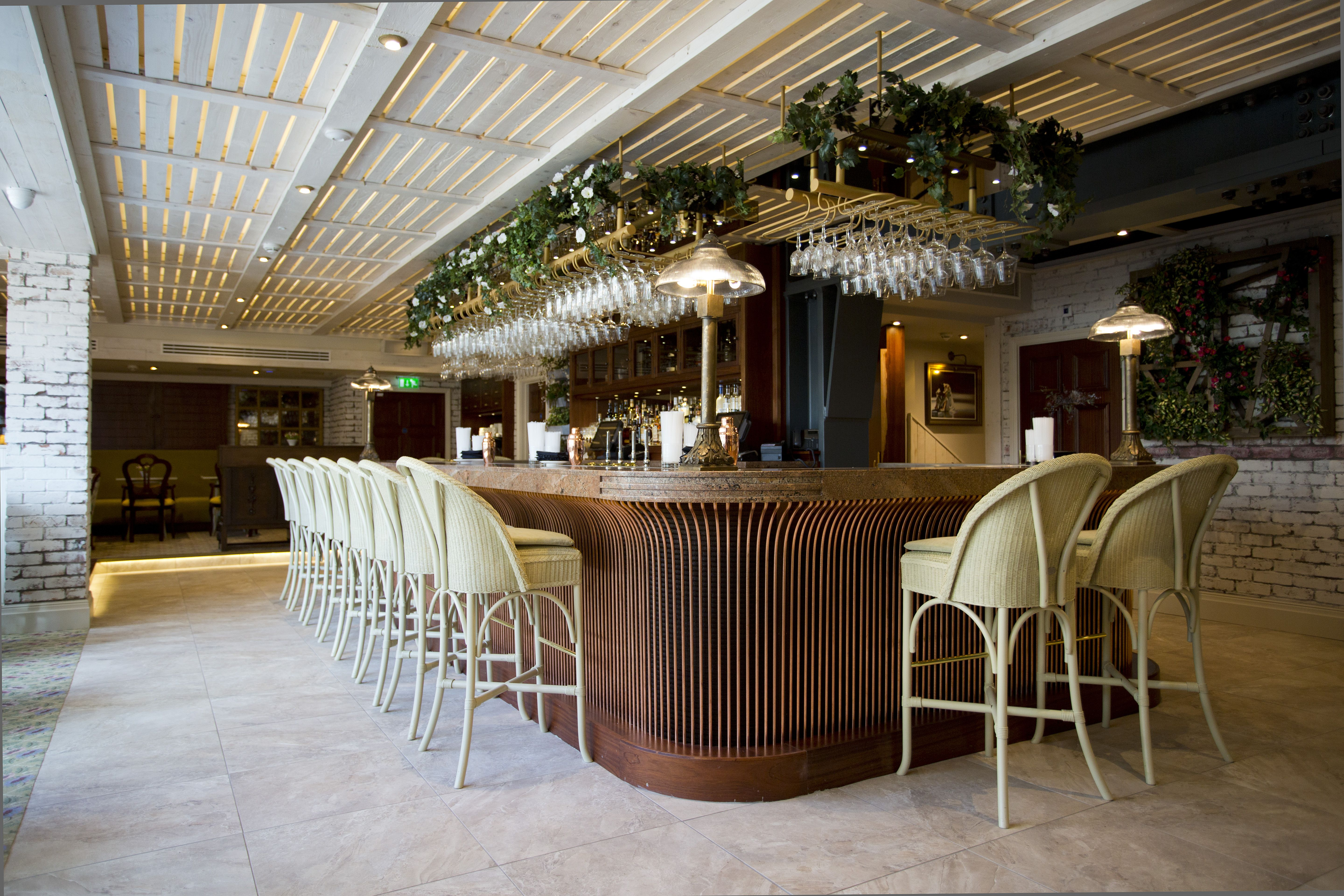 Bar Design Rattan And Wicker With Draped Foliage And Planting Basement Restaurant Bar Design By Ti Bar Design Restaurant Bar Restaurant Interior Cafe Design