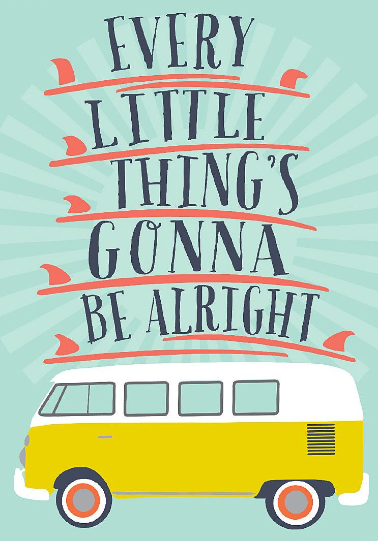 Vw Quote Every Little Things Gonna Be Alright  Art  Illustration