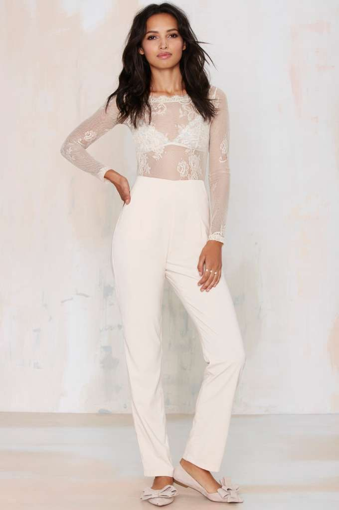 38df3716c19 Glamorous Falling in Lace Jumpsuit - Rompers + Jumpsuits