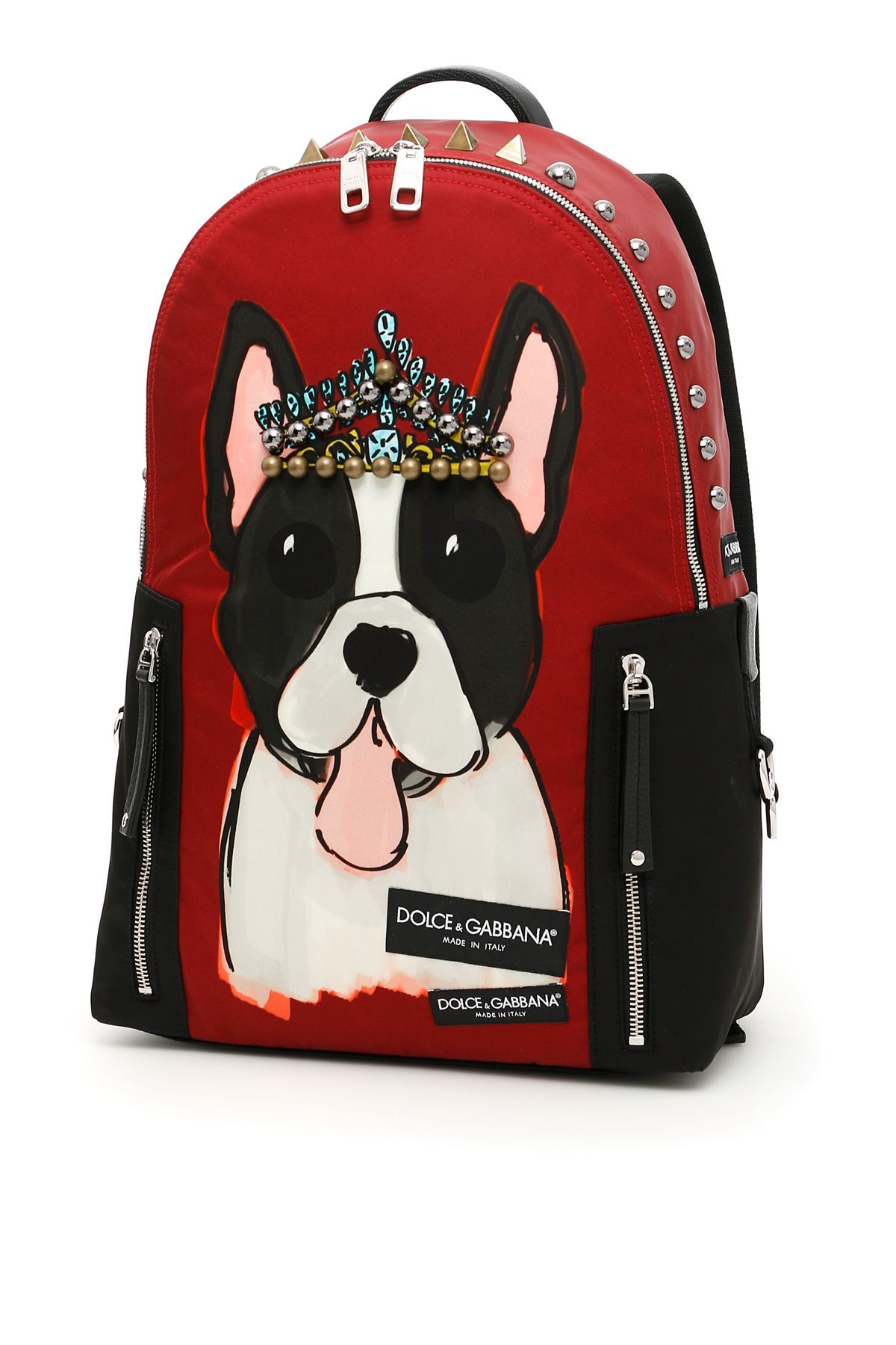 f13916e818bc DOLCE   GABBANA NYLON BACKPACK WITH DOG PRINT.  dolcegabbana  bags  leather   lining  nylon  backpacks  metallic