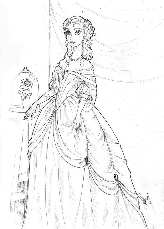 Baroque Belle By Ladyamaltea On Deviantart Disney Coloring Pages Cute Coloring Pages Coloring Books