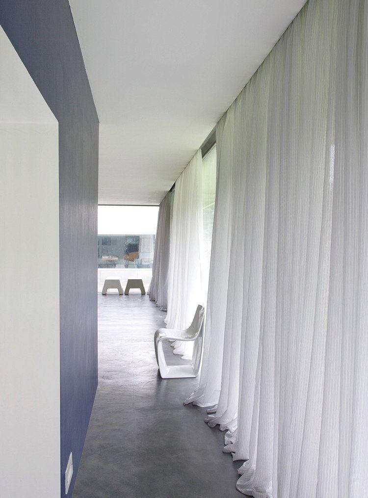 durchscheinende Gardinen aus weißem Leinenstoff   gardinen ...
