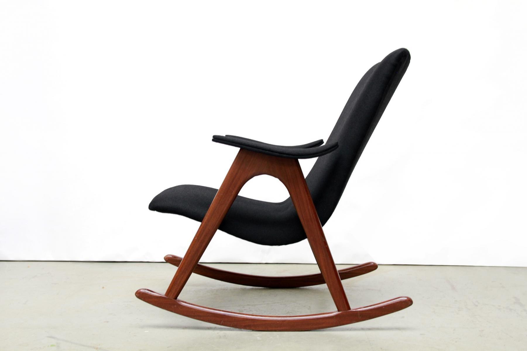 Dutch Mid-Century Rocking Chair by Louis van Teeffelen for WéBé, 1960s 2