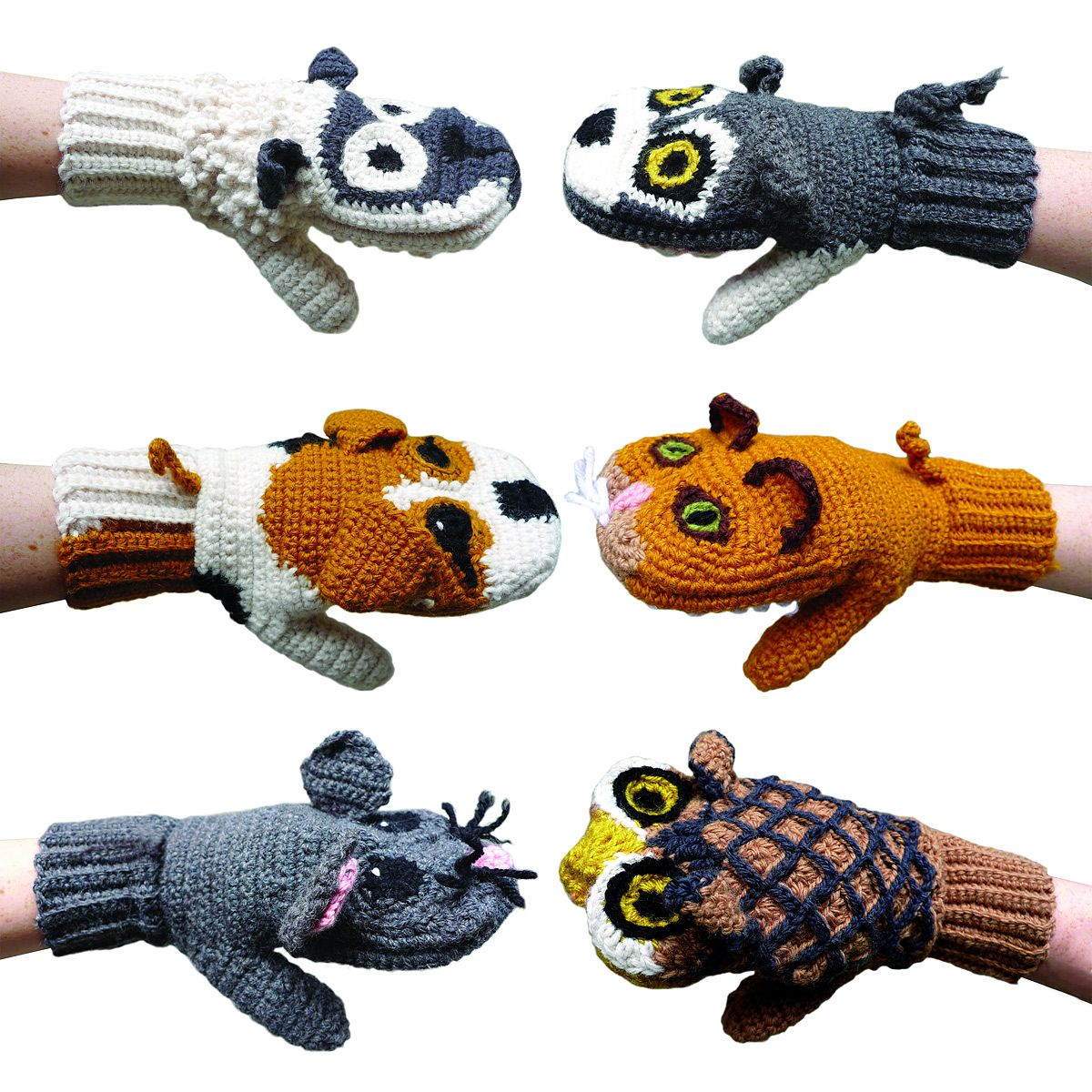 FABULOUSLY clever and super cute idea: Predator Vs Prey mittens (Sheep & Wolf/ Dog & Cat/ Mouse & Owl)