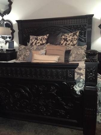 Genial Incredible Ashley Furniture King Sized Britannia Rose Set This Set Is No  Longer Available And Highly Sought After! Amazing Carved Look With  Black/brown Base ...