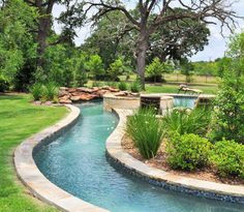Amazing Lazy River Pool Ideas That Should You Make In Home Backyard Https Decomg Com Amazing Lazy River Pool Ideas Backyard Pool Pool Water Features Backyard