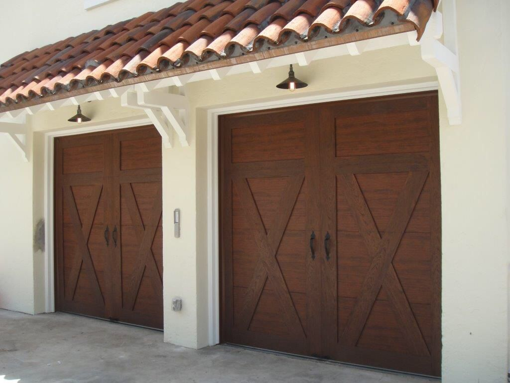 Clopay canyon ridge collection ultra grain series faux Garage door faux wood