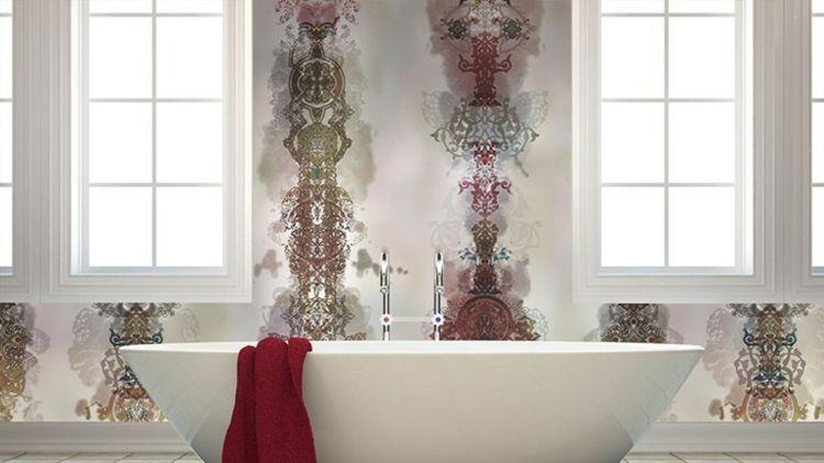 Badezimmer Tapete Waschbares Vinyl Als Schmuckstuck Fur Die Wande Vinyl Wallpaper Tapeten Badezimmer Tapete